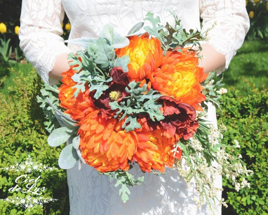 Idelle wedding bouquet by ciel de lys autumn fall bouquet for Bouquet de lys