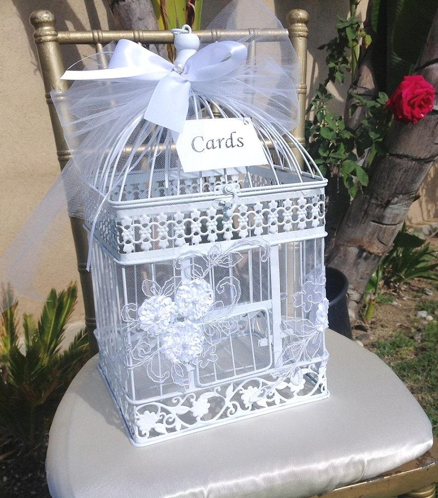 Birdcage Card Holder Birdcage Money Box Money Box Wedding – Birdcage Wedding Card Box