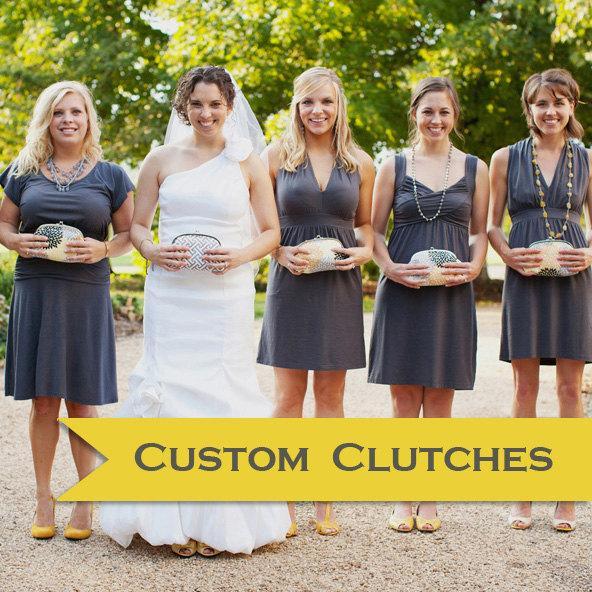 Свадьба - Design your own bridesmaid gift or bride's clutch handmade