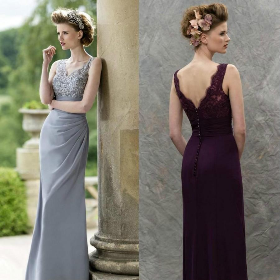 Stunning V-Neck Long Mermaid Mother Of Bridal Dresses Sheer 2016 ...