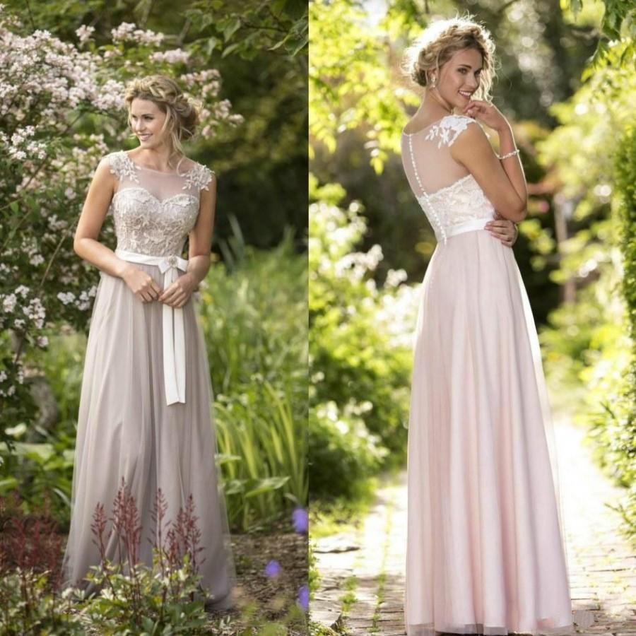 Wedding - New Designer Pink Long Mother Of Bridal Dresses Sheer 2016 Cheap A-Line Mother's Formal Wear Bride Prom Evening Gowns Party Custom Online with $100.79/Piece on Hjklp88's Store