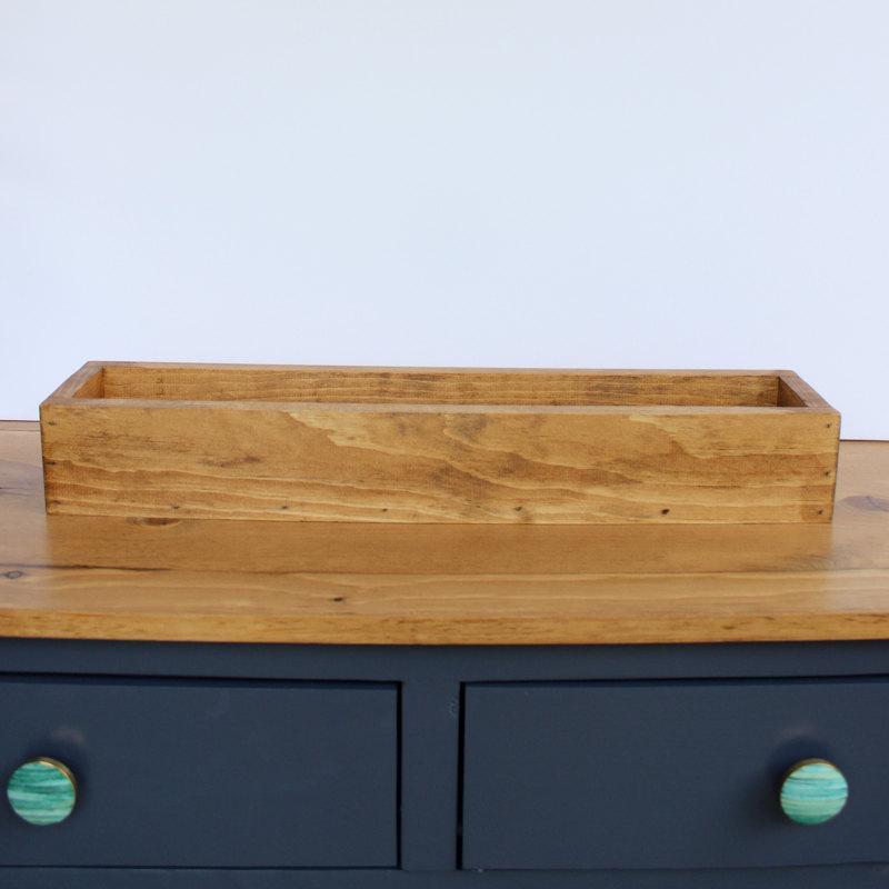 "Hochzeit - 24"" Wood Flower Box, Wedding Centerpiece, Rustic Table Centerpiece, Farmhouse Home Decor"