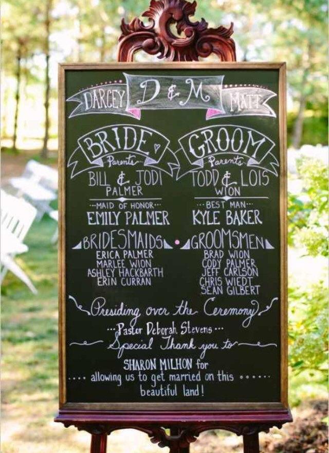 LARGE Wedding Chalkboard