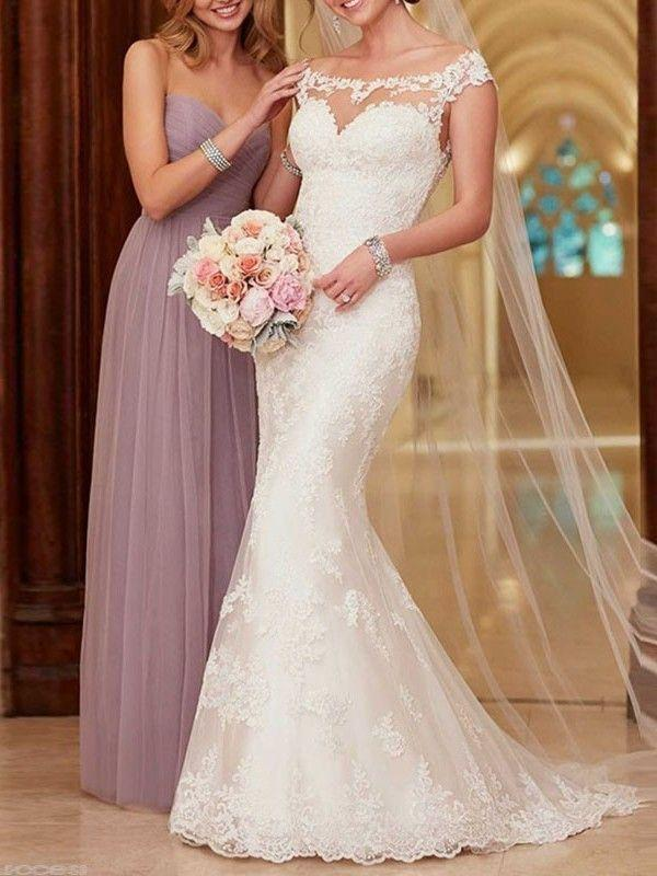 Wedding - Elegant Lace Mermaid Wedding Dress