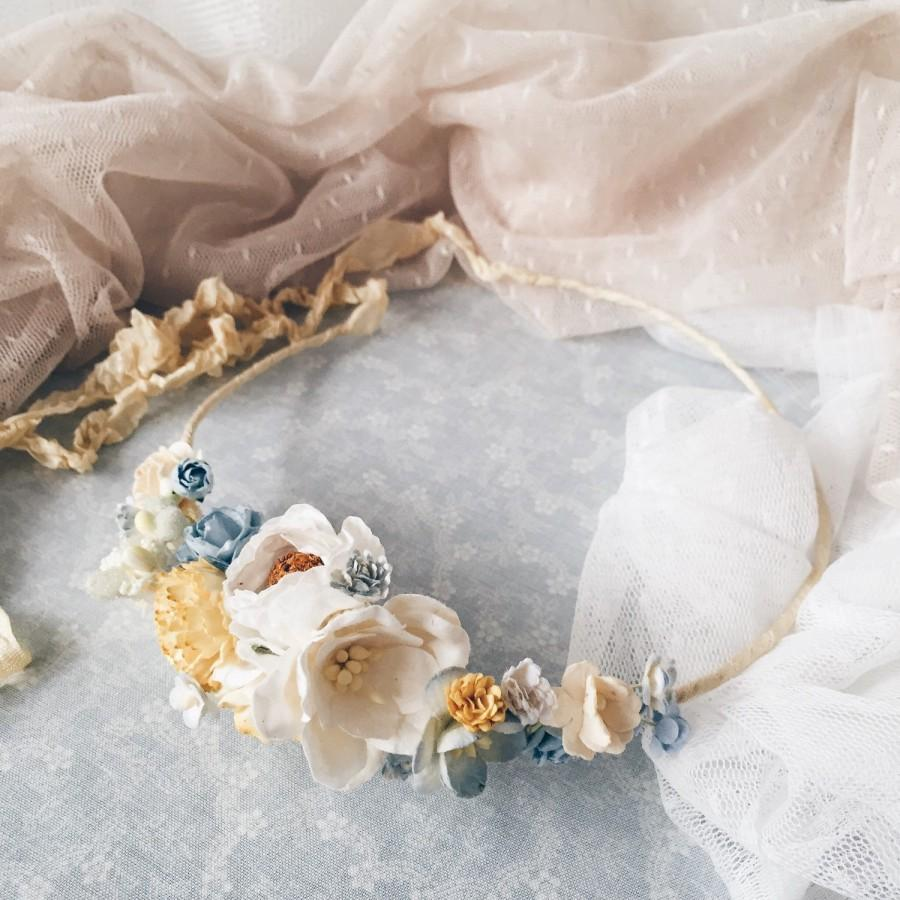 Wedding - Bridal floral crown, Bridal flower crown, Floral crown, Bridal flower headpiece, boho headpiece, Wedding flower crown,flower girl