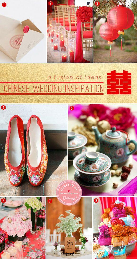Mariage - Chinese Wedding Inspiration: A Fusion Of Ideas For The Ceremony   Reception!