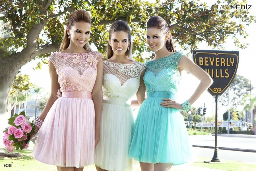 Wedding - Kısa Mezuniyet Elbiseleri 2016 - 1K Modelleri