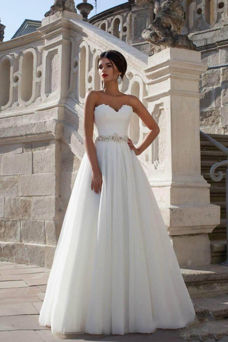2016 New Arrival White Princess A Line Vintage Wedding Dresses