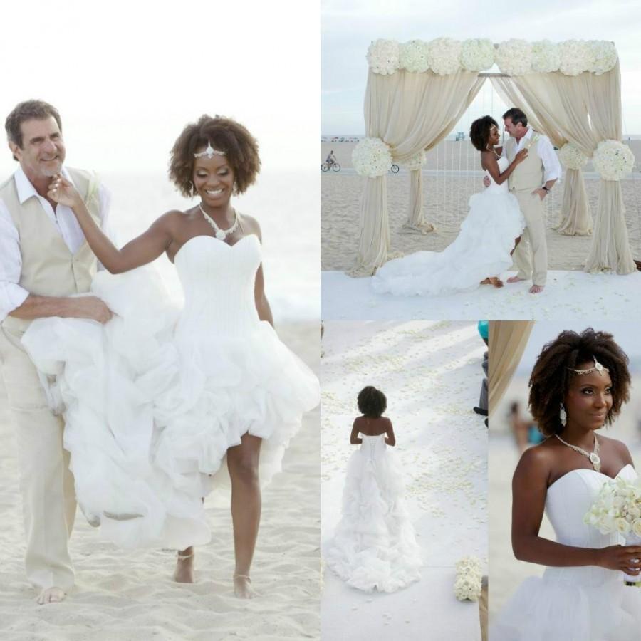 Shop Online Beach Wedding Dresses Cheap Wedding Dresses: Real Picture 2016 Beach Wedding Dresses Sweetheart Tiered