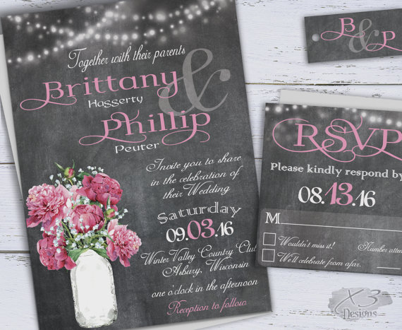 Printable Country Wedding Invitations DIY Rustic Wedding