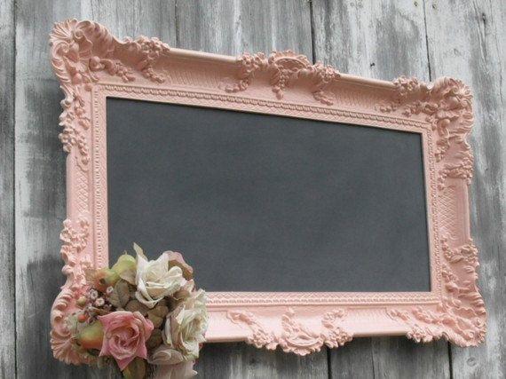 "Wedding - Cherry Finish Chalkbaord Chalk Board CLASSIC WEDDING DECORATIONS Dark Cherry Finish Kitchen Magnetic Ornate Chalkboard 31""x27"" Home Decor"