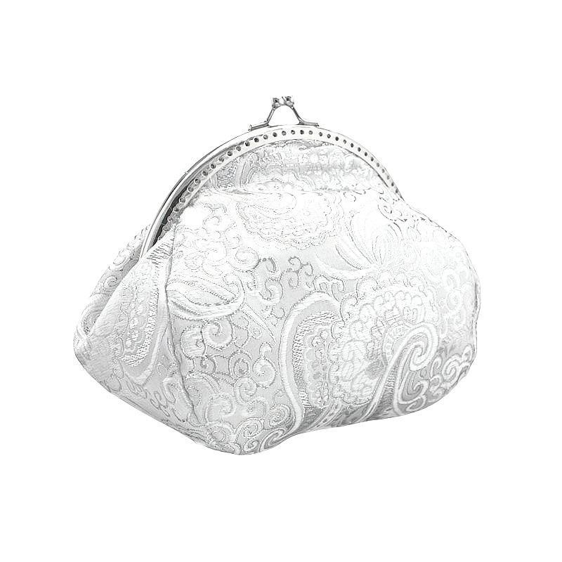 Hochzeit - bride handbag, bridal white and silver  clutch bag, womens white purse bag in wedding, formal, vintage style, bridesmaid clutch handbag 0425