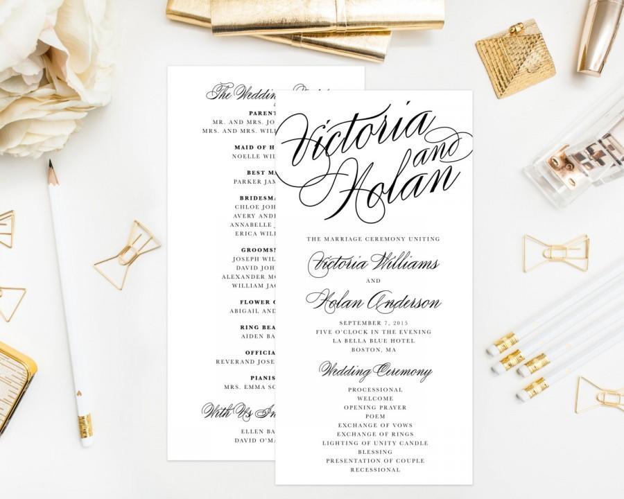 Свадьба - Calligraphy Wedding Program