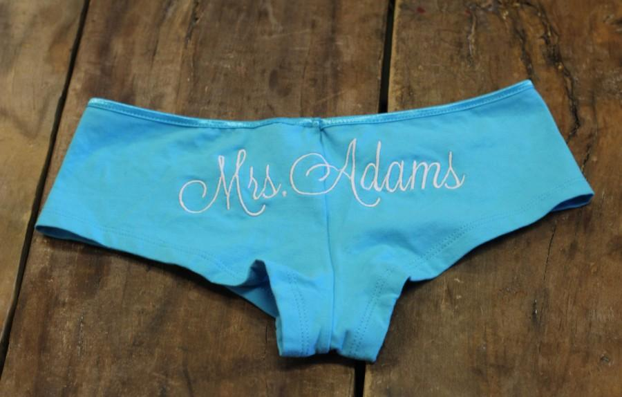 personalized bridal undies boyshorts bride undies mrs panties bridal shower bride lingerie bachelorette gift bride underwear future