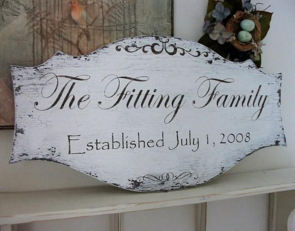 Mariage - FAMILY NAME SIGNS, Wedding Signs, Established Signs, Personalized Signs, 27 x 14