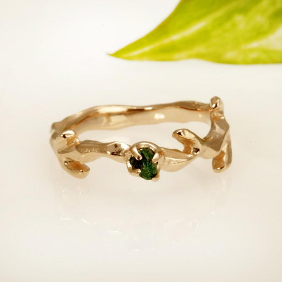 Свадьба - Emerald 14kt Rose gold Ring . Set Natural Emerald. engagement ring promise ring rose gold.  RG-1113