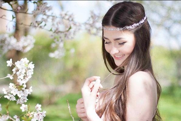 زفاف - silver hair Crown. Hair band