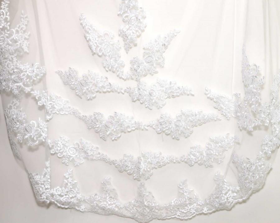 Свадьба - 3M Veil, Long Veil, 1 Tier, Cream/White Veil, Cathedral Veil, Wedding Veil, Bridal Veil, Lace Cathedral Veil, Veil With Comb