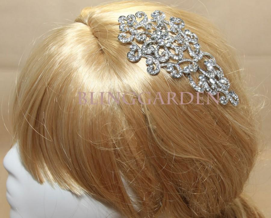 Wedding - Victorian Memory Rhinestone Crystals Wedding Bridal Dress Hair Comb / Sash BRH00507