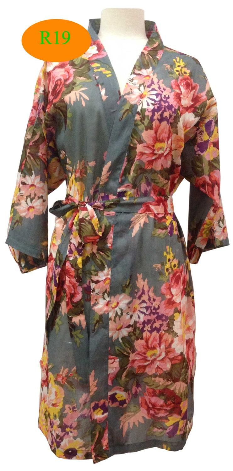 Grey Gray Floral Bloomd Bridesmaids Robes Kimono Robes Wraps Bridesmaid Gifts Getting Ready Robes Bridal Shower Favors Floral 2502596 Weddbook