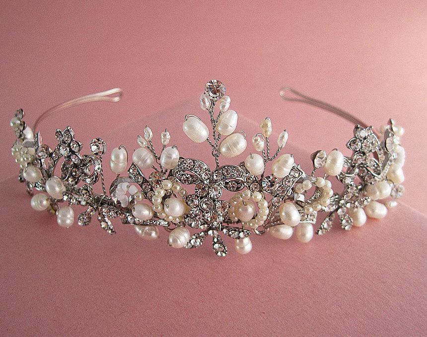 dba0d68679f9 Fresh Water Pearl Bridal Headpiece