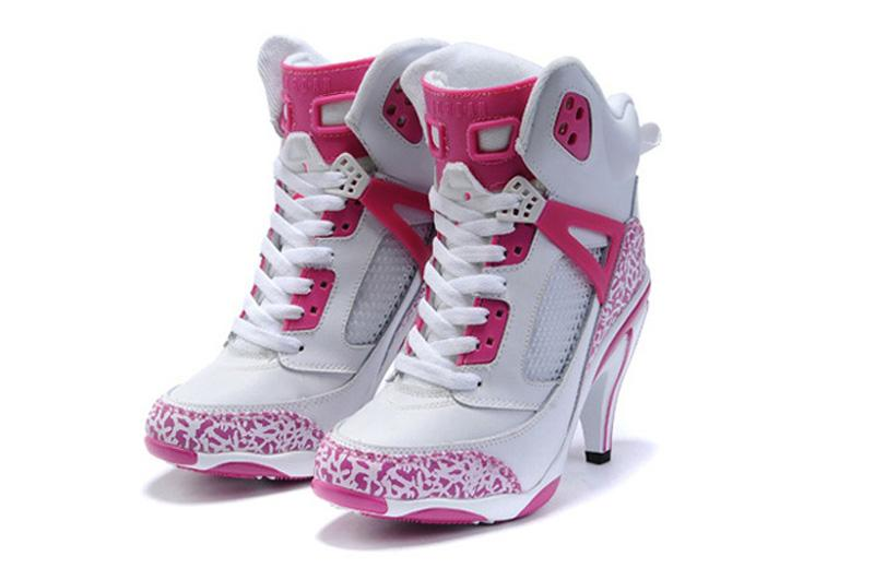 Hot Air Jordan 35 High Heels Pink White Shoes From China