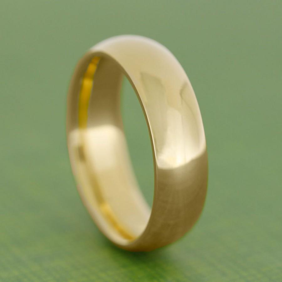 24k Gold Ring Yellow Wedding Band Solid For Men Or Women