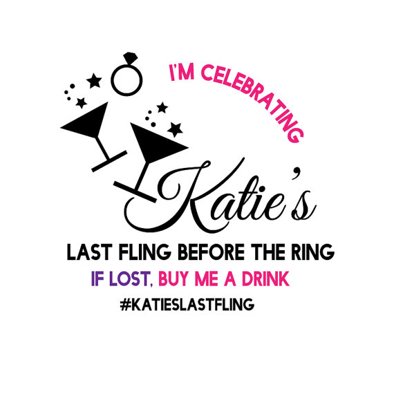 Boda - Bachelorette Temporary Tattoo - Last Fling Before The Ring Bachelorette Party