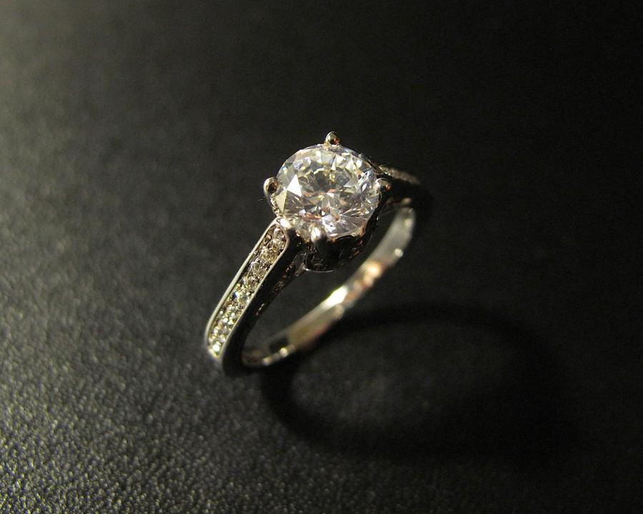 Hochzeit - Vintage Designer Inspired Engagement Ring, Made to Order
