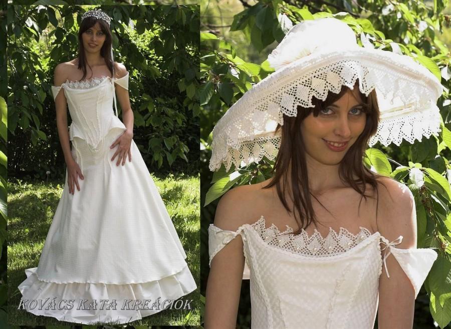 Wedding - Medieval Inspired Flatfronted Corseted Alternative Wedding Gown OOAK - Beatrix