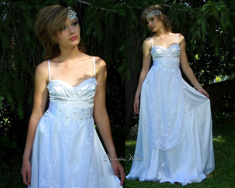 Wedding - Delicate Ethereal Goddess Empire Wedding Dress - Penelope