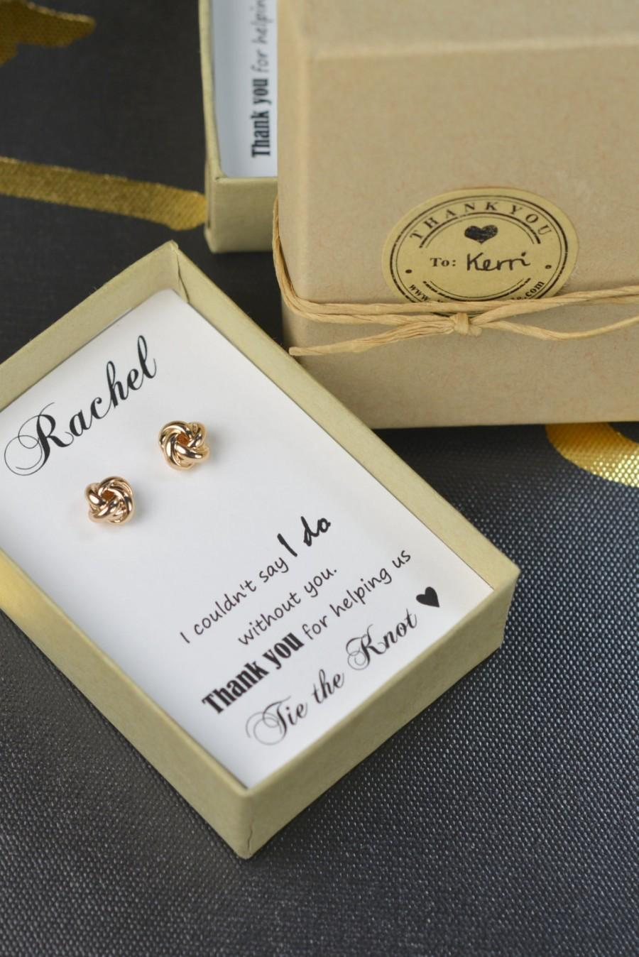 The Knot Wedding Gift List : ... Gift Box,Bridesmaid Tie the Knot Earrings,Be My Bridesmaid, Bridal