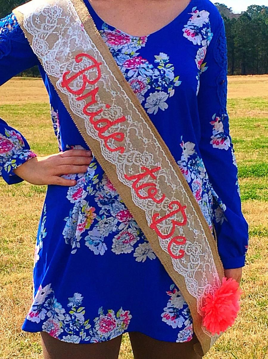 Свадьба - SHIPS FAST 1-2 days! Bachelorette/Bride to Be Party Sash