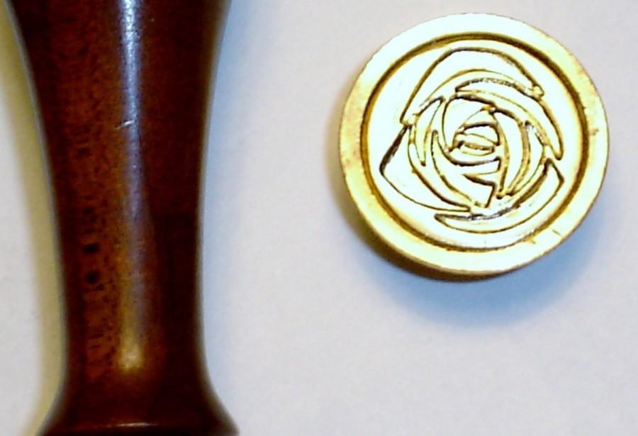 """زفاف - Stamper  014 - 7/8"""" Rose wax seal stamp"""