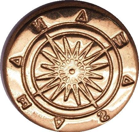 "زفاف - Compass stamper 114 - 7/8"" wax seal stamp"