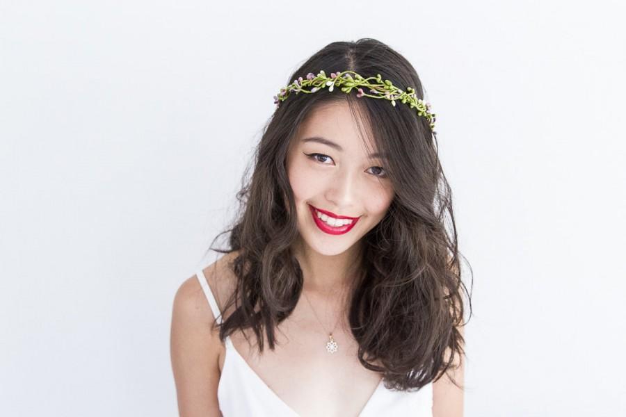 زفاف - mr twiggles hair wreath - garden // woodland collection, berry twig headpiece, wedding hair accessory, headband, hair rose halo, crown.