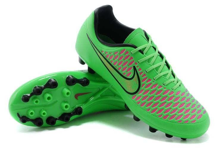 Wedding - nike magista goldden ag coin green pink football boots