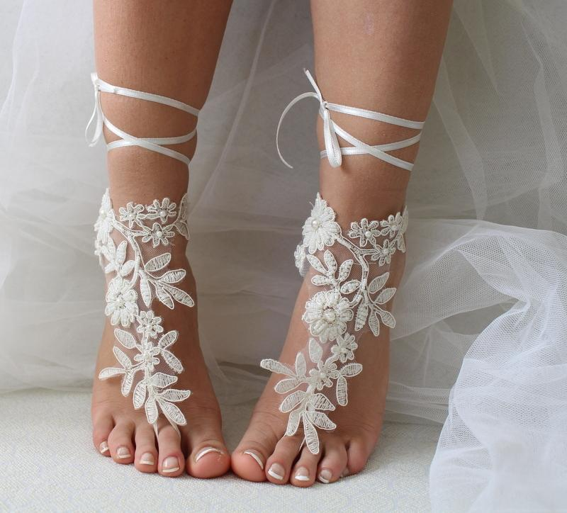 Wedding - lace anklet