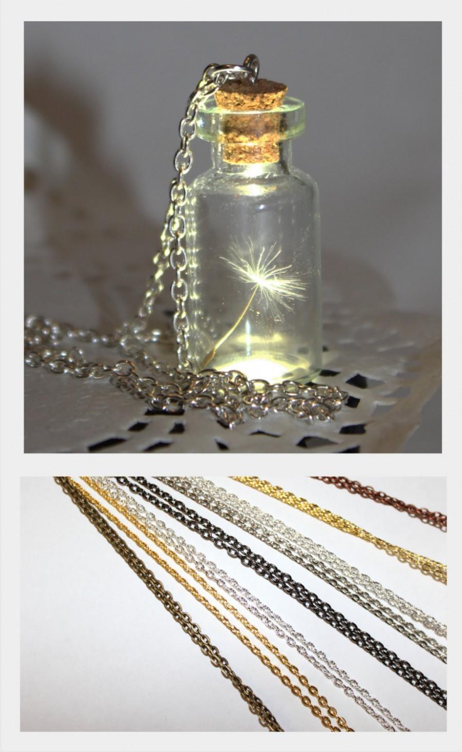 One Special Wish Dandelion Seed In A Bottle Jar Necklace Vial Terrarium Necklace Handmade Dandelion Jewelry Make A Wish Pendant 2503145 Weddbook