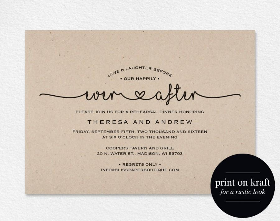 Rehearsal Dinner Invitation, Love And Laughter Before Our ...
