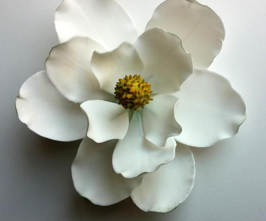 """Mariage - GUM PASTE FLOWER Magnolia approx 5"""" in diameter"""