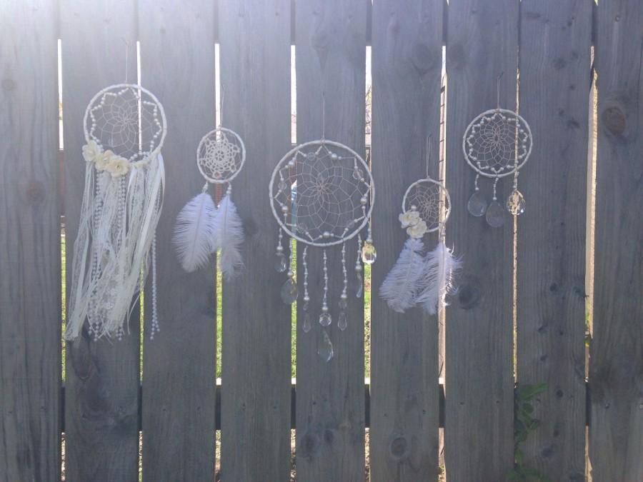 Mariage - Wedding Dreamcatcher set - ivory dreamcatcher - giant dreamcatcher - wedding decor - wedding wall hanging - boho wedding decor - southern