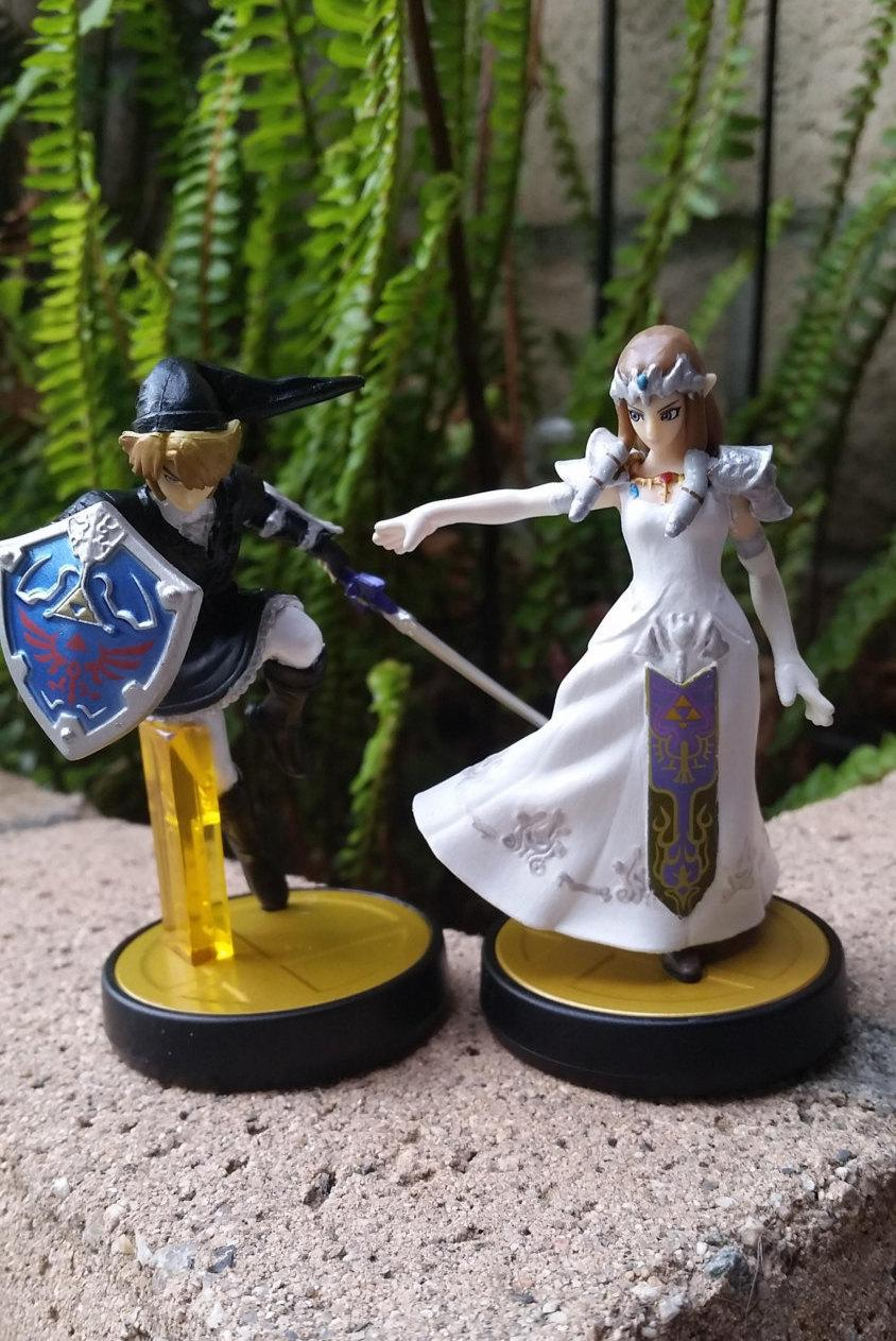 Amiibo Custom Link/Princess Zelda White/Wedding Dress ...