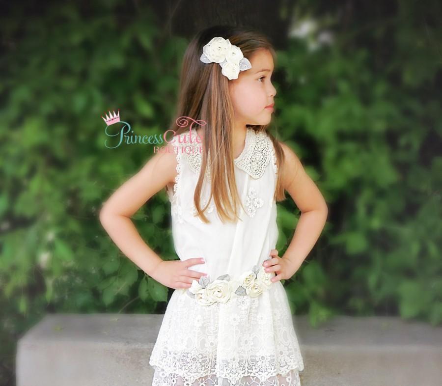 d5d9c99c1c9 Rustic Flower Girl Dress