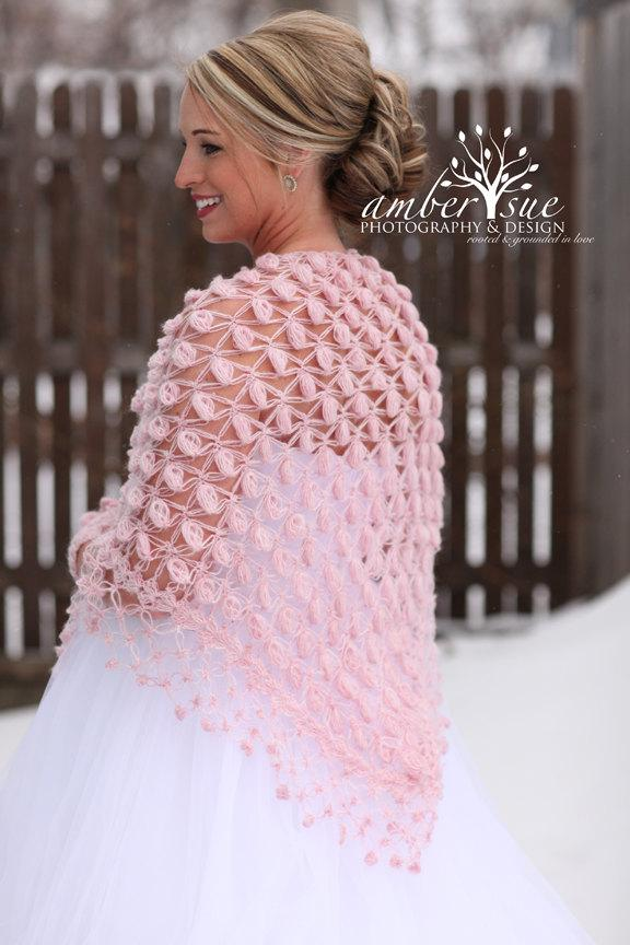 Wedding - Winter Wedding Shawl, Bridal Cape, Bridal Cover up, Bolero, Romantic Wedding Wrap, Bridal Shawl, Bridesmaid Cover Up, White Wedding Capelet