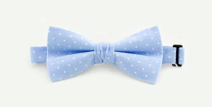 Wedding - Neckties Friendship Gift Polka Dots Blue Bow Tie Weddings Bowtie Wedding Color Suit & Tie Accessories