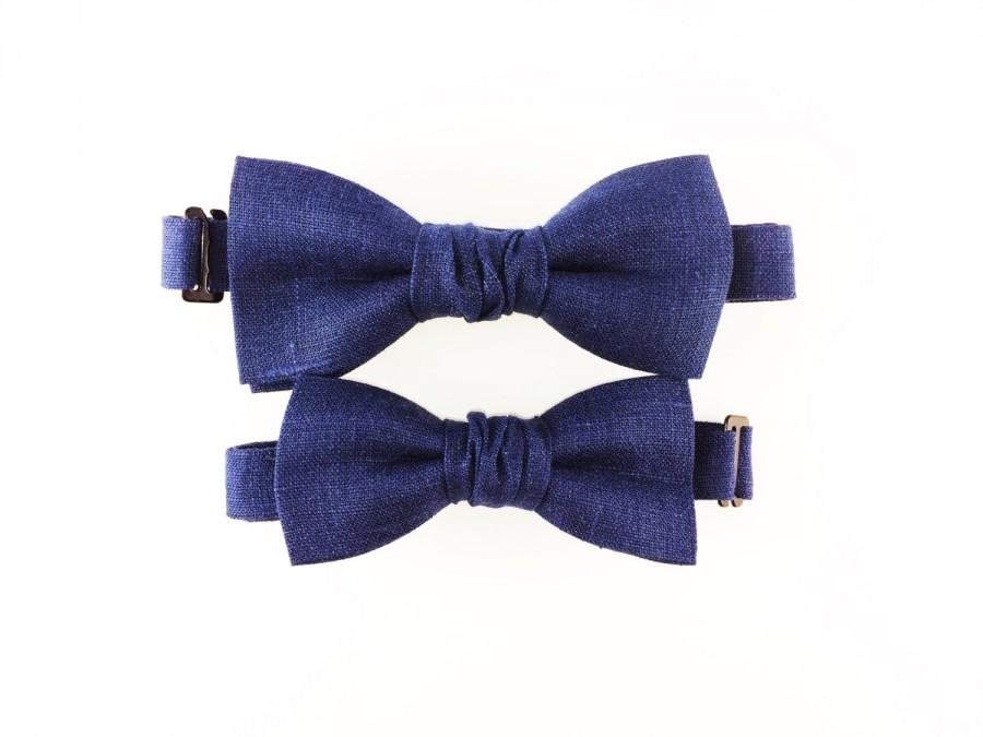 Mariage - Bow Ties Father Son Blue Bowties Brothers Set Gift Wedding Bow Tie Big Brother Little Brother Accessories Children's Photo Props