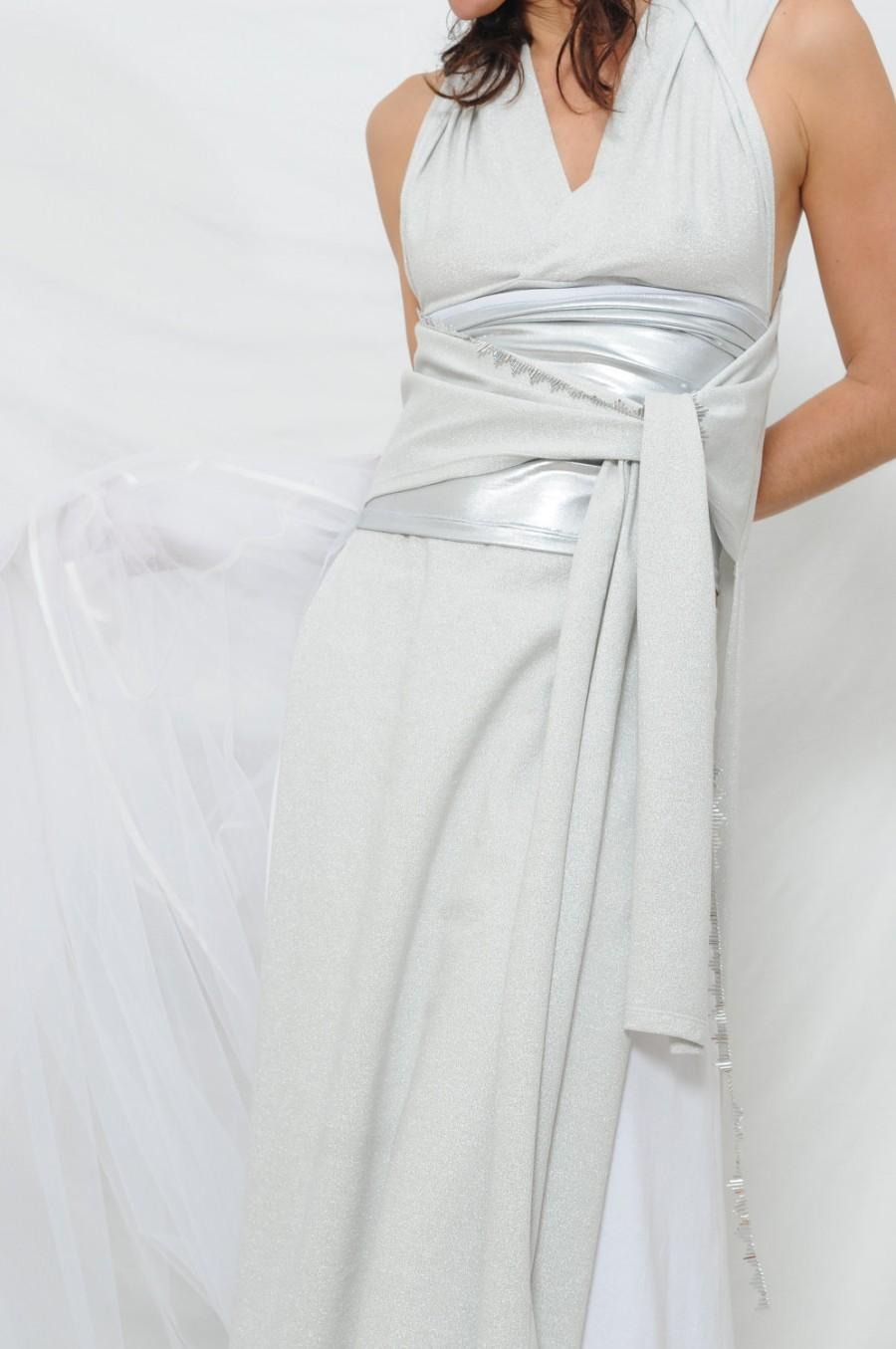 Convertible wedding dress handmade gown made to order for Wedding dress with waistband
