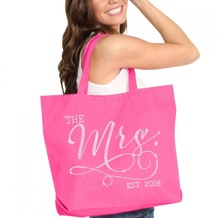 Brides Tote : Mrs Tote Bag, Jumbo Bride\'s Tote, Bridal Shower Gift ...