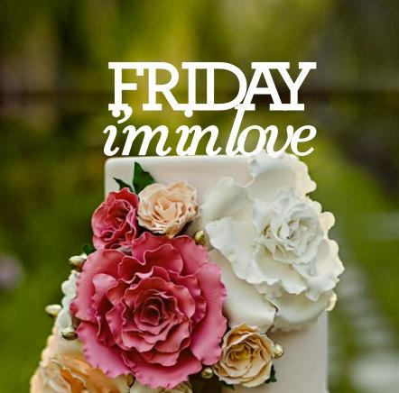 Hochzeit - Friday i'm in love, the cure, Wedding Cake Topper, cake topper, Mr and Mrs, custom cake topper, monogram cake toppers